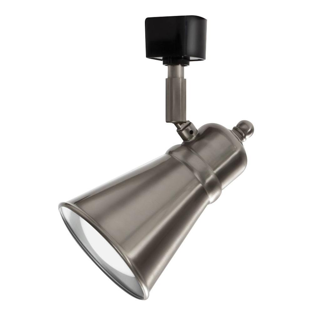 Illuma Flex Track Lighting Installed In A Kitchen From: Lithonia Lighting Shade Baffle 1-Light Brushed Nickel LED