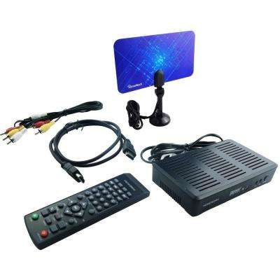 HOMEWORX Digital Converter Box with TV Tuner Recording, Media Player, Antenna and HDMI Cable