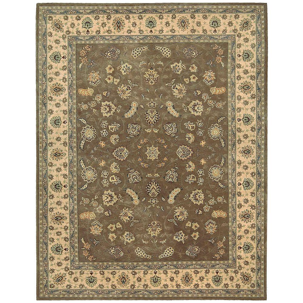 Nourison 2000 Olive 7 ft. 9 in. x 9 ft. 9 in. Area Rug