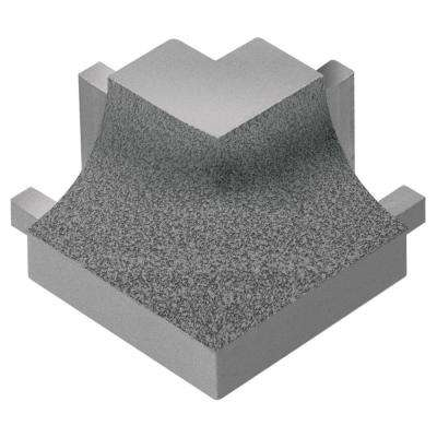 Dilex-AHK Pewter Textured Color-Coated Aluminum 1/2 in. x 1 in. Metal 90 Degree Square Outside Corner