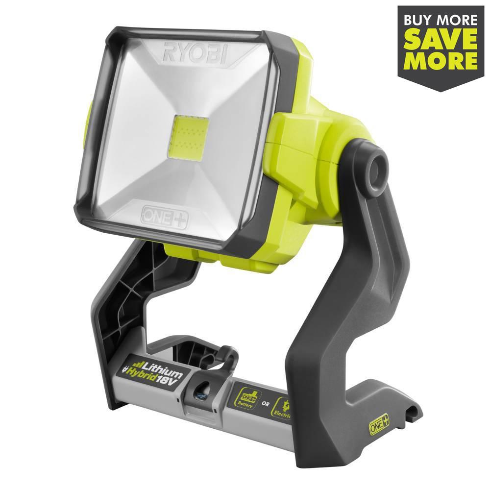 RYOBI 18-Volt ONE+ Hybrid 20-Watt LED Work Light (Tool-Only)
