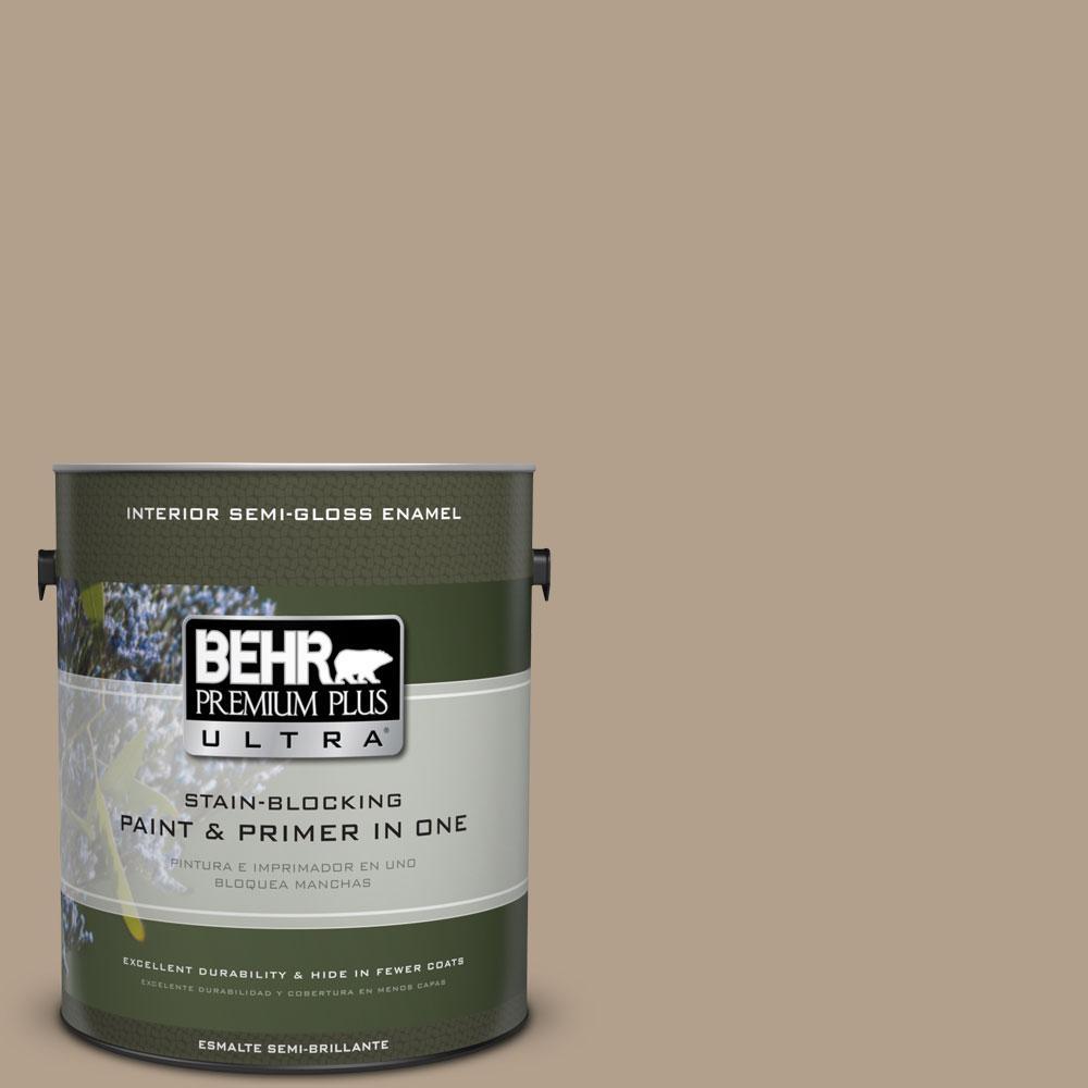 BEHR Premium Plus Ultra 1-gal. #PWL-85 Stepping Stones Semi-Gloss Enamel Interior Paint