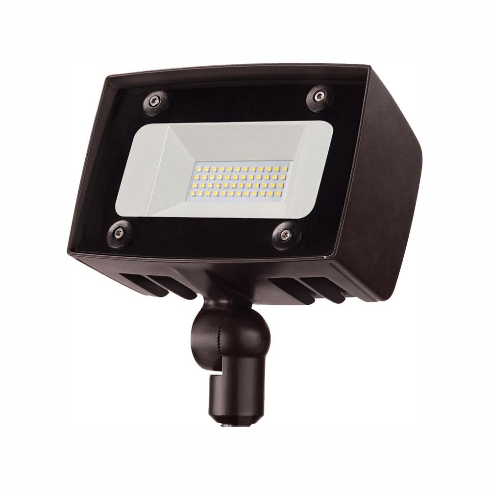 PROBRITE PROBRITE Dark Bronze Outdoor Integrated LED Architectural Security Flood Light