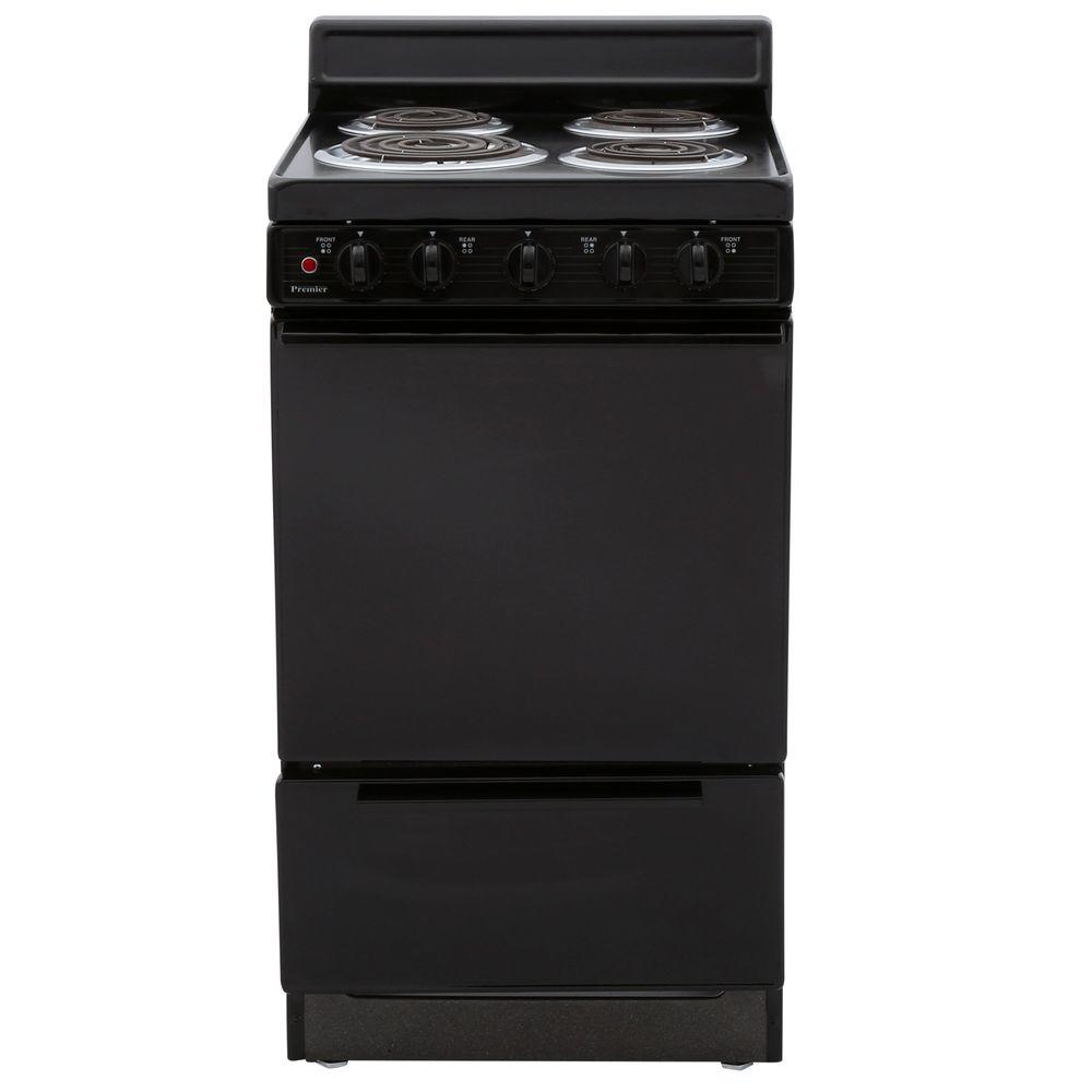 20 Electric Range >> Premier 20 in. 2.42 cu. ft. Electric Range in Black