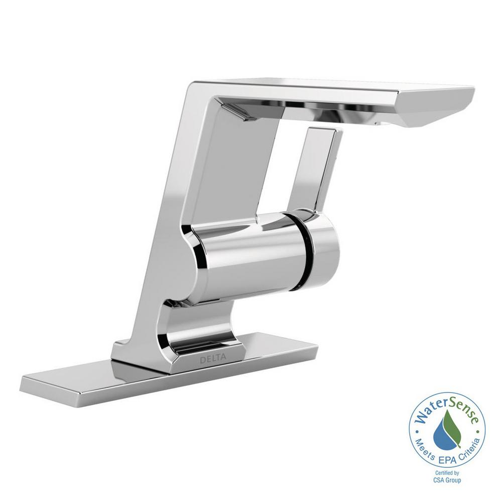 Delta Pivotal Single Hole Single-Handle Bathroom Faucet in Chrome