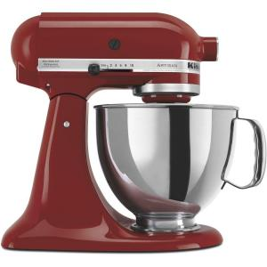 Artisan 5 Qt. 10-Speed Cinnamon Gloss Stand Mixer with Flat Beater, 6-Wire Whip and Dough Hook Attachments