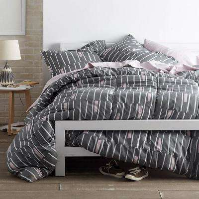 Traverse Gray Queen Comforter Set