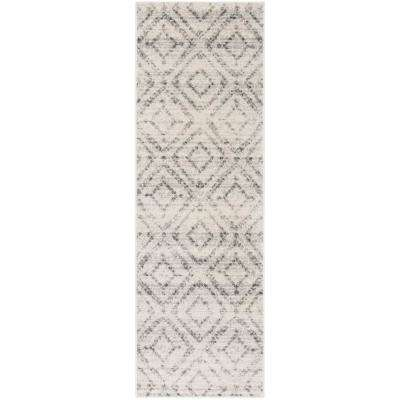 Adirondack Light Gray/Gray 3 ft. x 6 ft. Runner