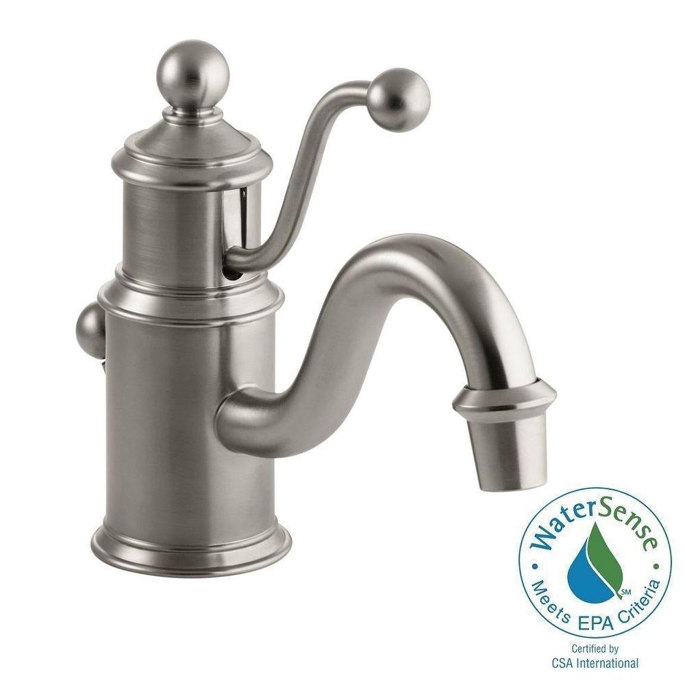 KOHLER Purist 1-Hole Single Handle Low-Arc Bathroom Vessel Sink Faucet With Straight Lever