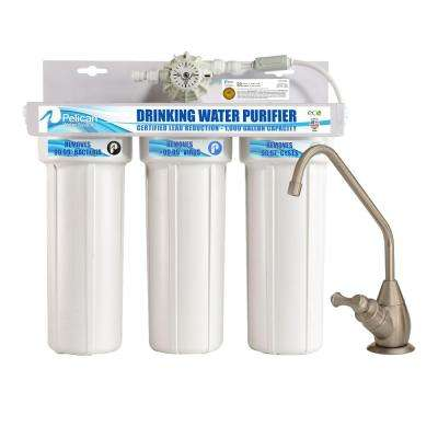 Drinking Water Purifier Dispenser Filtration System with Brushed Nickel Faucet