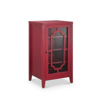 Fina 8-Bottle Accent/Wine Cabinet in Burgundy