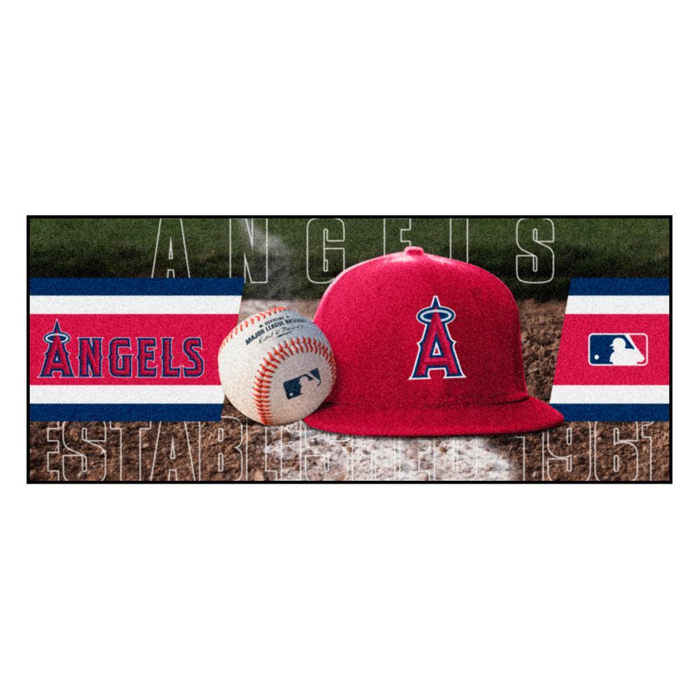 Los Angeles Angels 3 ft. x 6 ft. Baseball Runner Rug