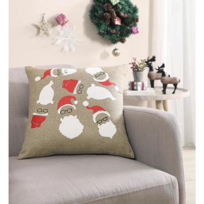 MHF Home Hipster Santa 18 in. Pillow Cover