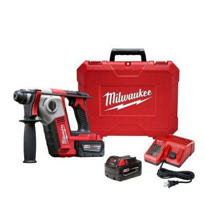 M18 18-Volt Lithium-Ion Cordless 5/8 in. SDS-Plus Rotary Hammer Kit W/(2) 3.0Ah Batteries, Charger, Hard Case