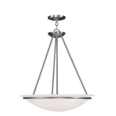 Providence 3-Light Brushed Nickel Incandescent Ceiling Pendant