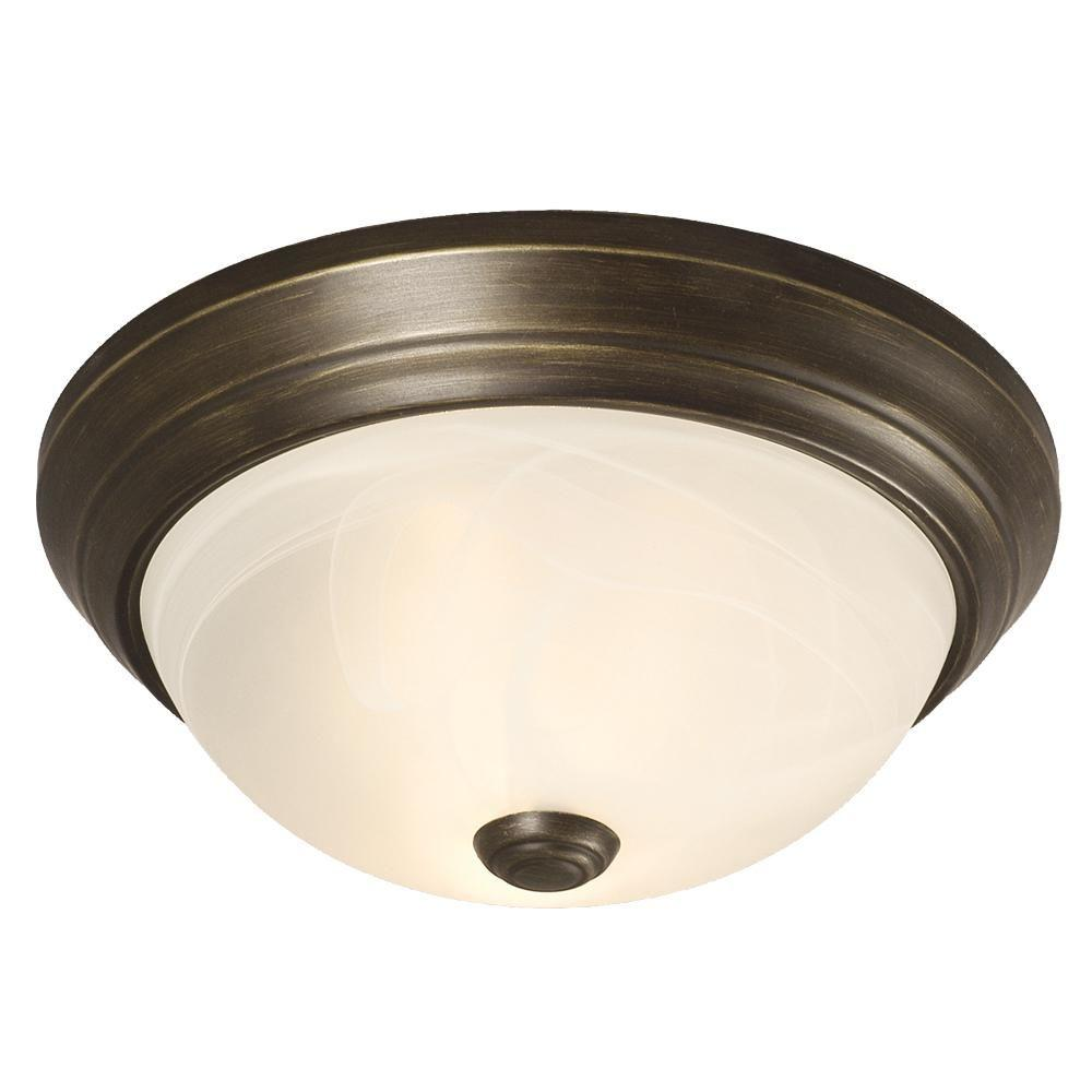 Negron 2-Light Old Bronze Incandescent Flush Mount