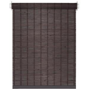 Achim Bamboo Java Cordless Light Filtering Woven Bamboo Roller Shade 30 In W X 72 In L Bmco30jv04 The Home Depot