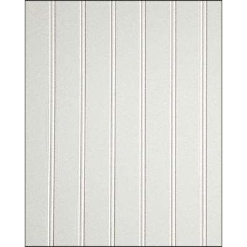 3/16 in. x 4 ft. x 8 ft. White MDF Truebead Wainscot Panel