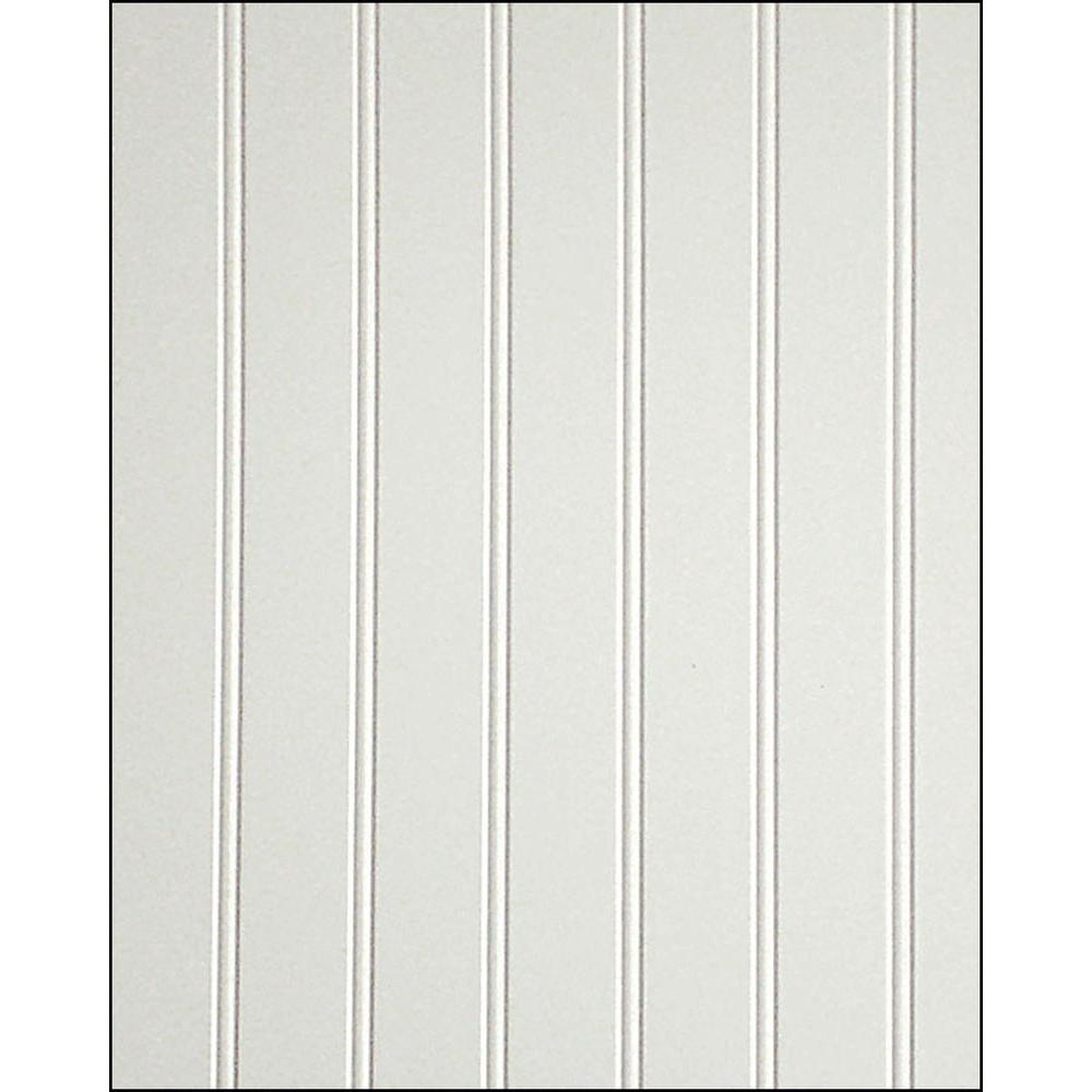 32 sq. ft. 3/16 in. x 48 in. x 96 in. Beadboard White True Bead Panel