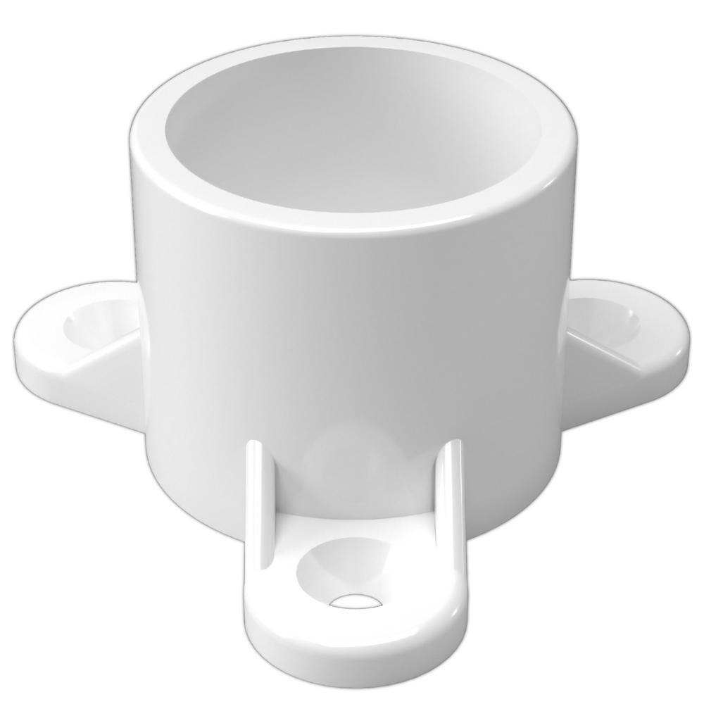 3/4 in. Furniture Grade PVC Table Screw Cap in White (10-Pack)