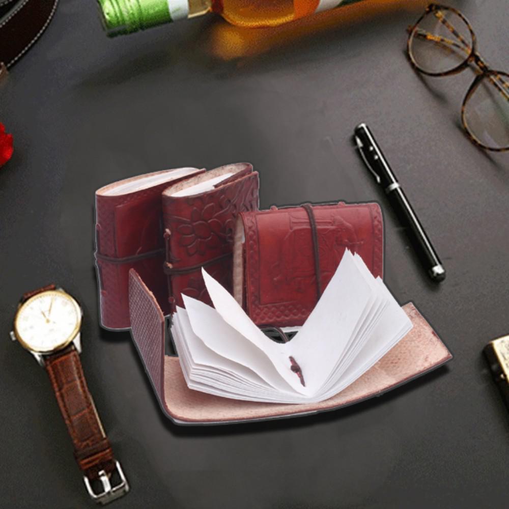 Brown Handmade Pocket Journals / Travel Diaries / Mini Sketchbooks (Set of 4)