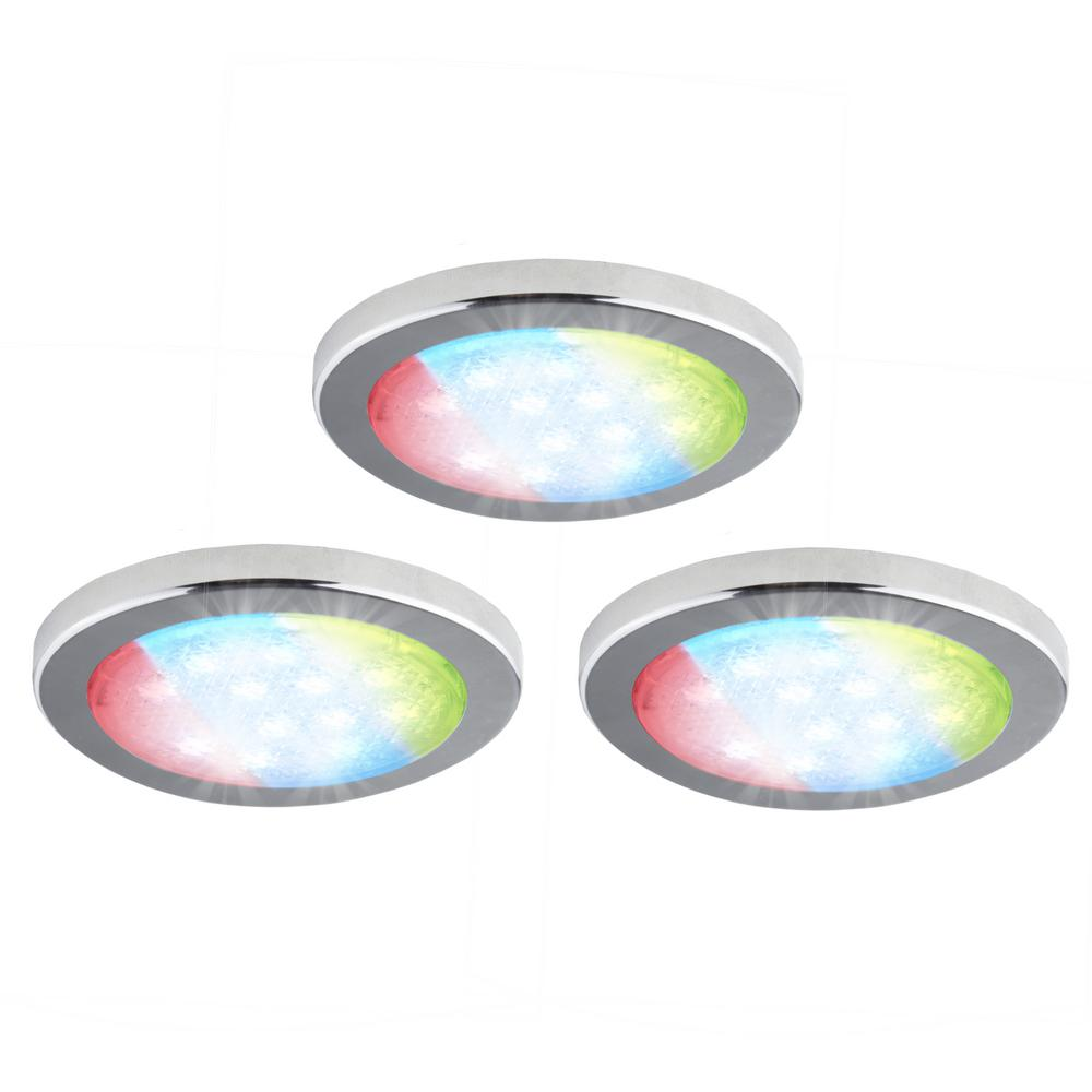 3-Pack Under-Cabinet LED RGD Puck Light