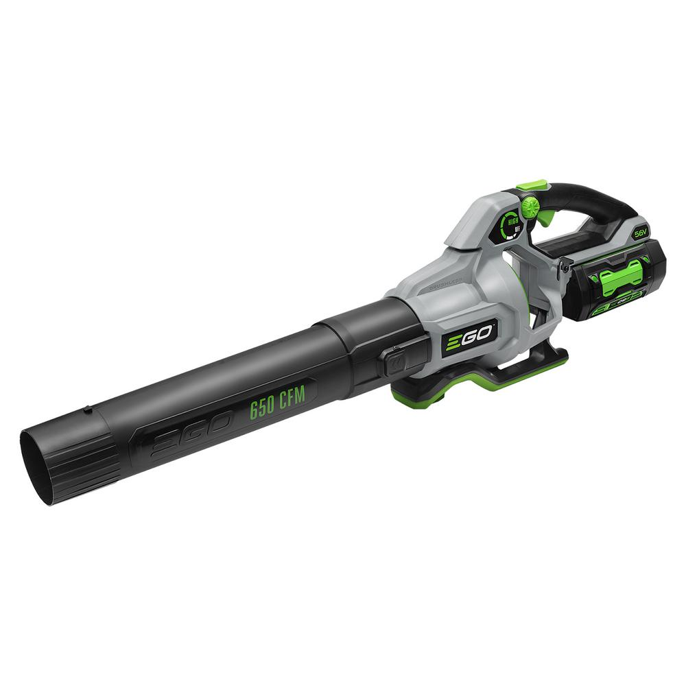 EGO 180 MPH 650 CFM 56V Lithium-Ion Cordless Electric Variable-Speed Blower, 5.0 Ah Battery and Charger Included