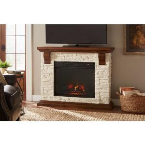 Cool Home Decorators Collection Highland 50 In Faux Stone Mantel Interior Design Ideas Grebswwsoteloinfo