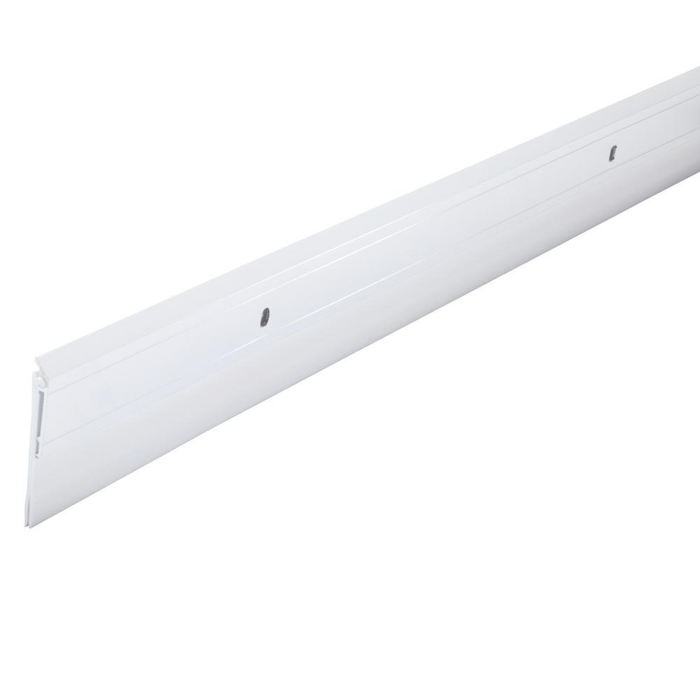 2 in. x 36 in. Premium Aluminum and Vinyl Door Sweep in White