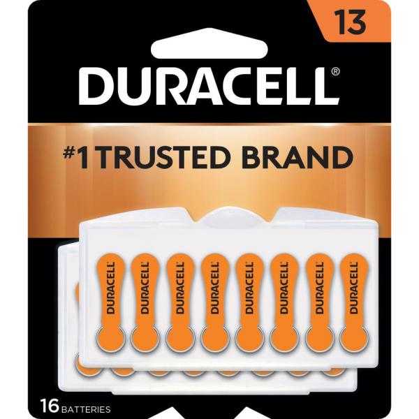 Size 13 Zinc Hearing Aid Battery (16-Pack)