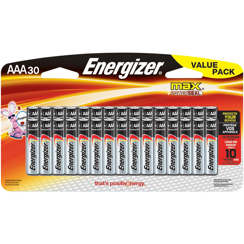Max Alkaline AAA Battery (30-Pack)