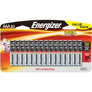 Energizer Max Alkaline AAA Battery (30-Pack) by Energizer