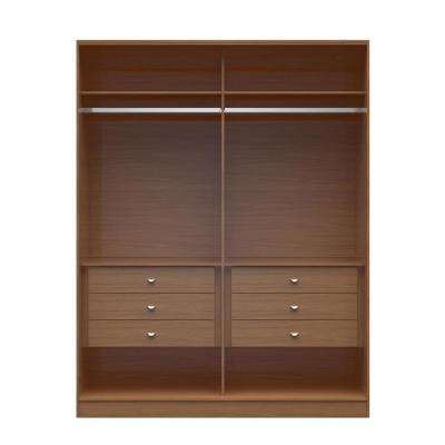 Chelsea 2.0 - 70.07 in. W Maple Cream He/ She Wardrobe with 6-Drawers