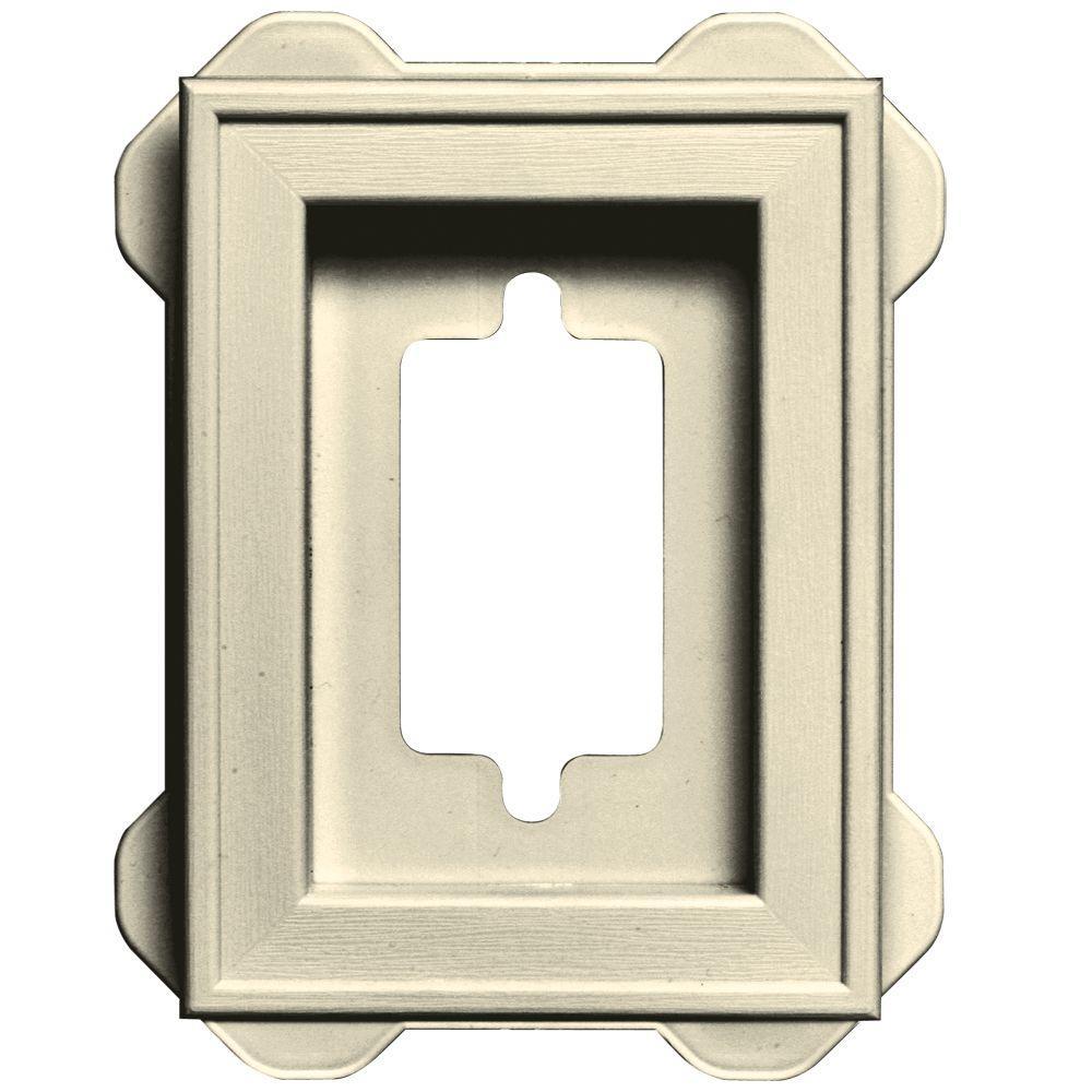 4.5 in. x 6.3125 in. #020 Heritage Cream Recessed Mini Mounting Block