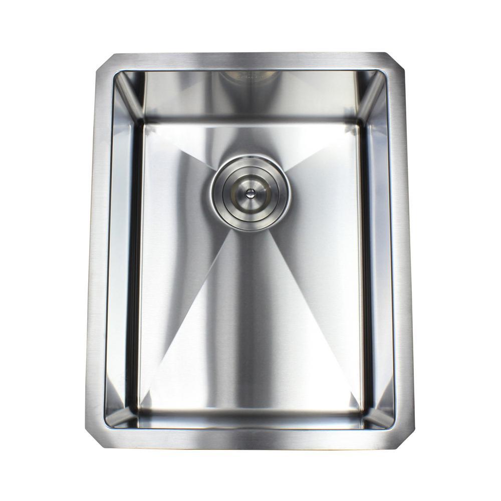 Stainless Steel Undermount 14 in. Single Bowl Kitchen Sink