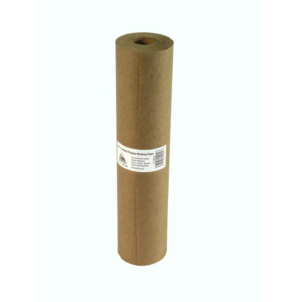 Trimaco 1 ft. x 180 ft. Brown All-Purpose Masking Paper