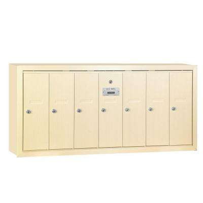 Sandstone Surface-Mounted USPS Access Vertical Mailbox with 7 Door