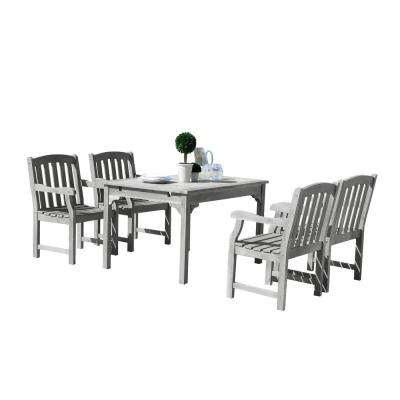 Renaissance 5-Piece Wood Rectangle Outdoor Dining Set