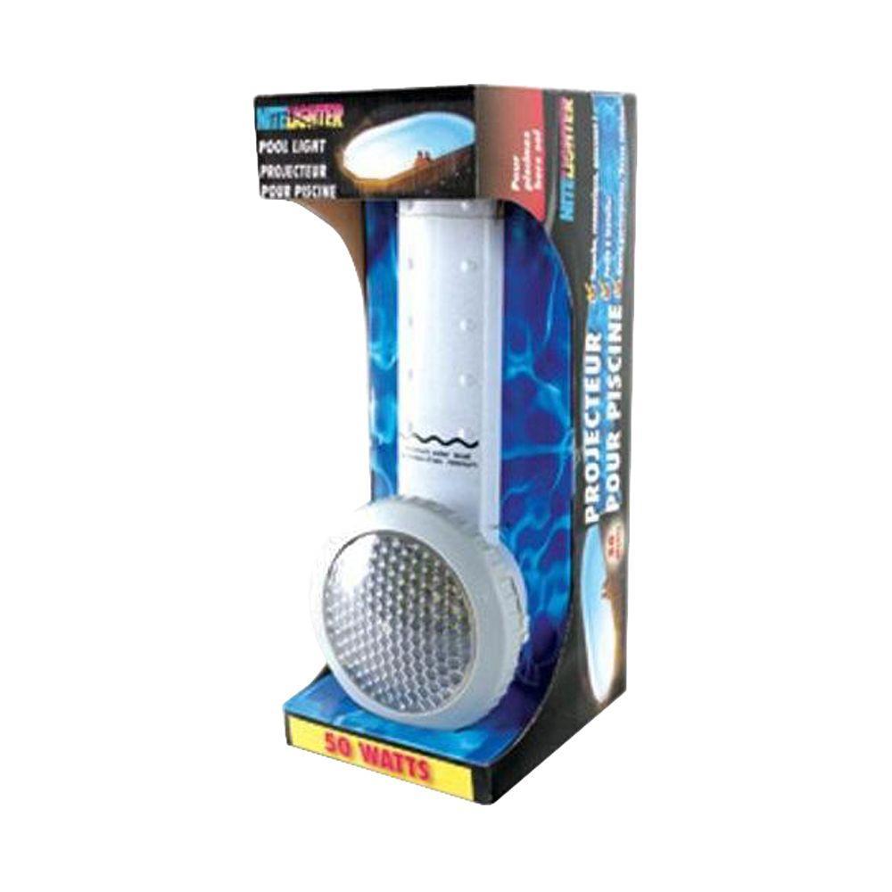 Smartpool Nitelighter 50 Watt Underwater Light For Above Ground Pool Nl50 The Home Depot