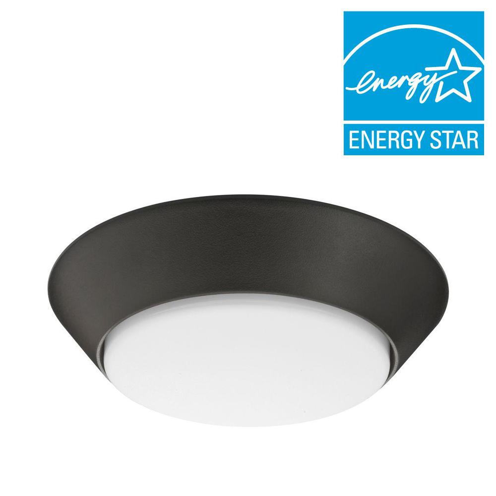 Versi Lite 9.3-Watt Textured Bronze Integrated LED Flushmount