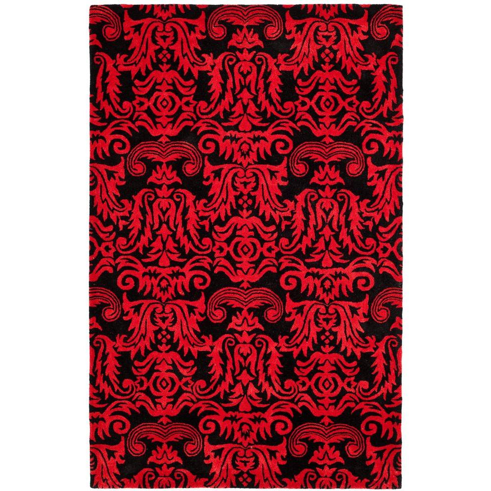 Soho Black/Red 5 ft. x 8 ft. Area Rug