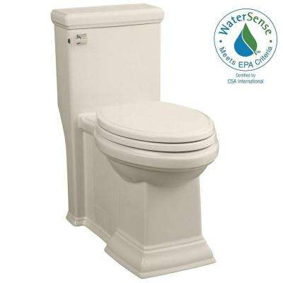 Town Square LXP 1-piece High-Efficiency 1.28 GPF Right-Height Single Flush Elongated Toilet in Linen