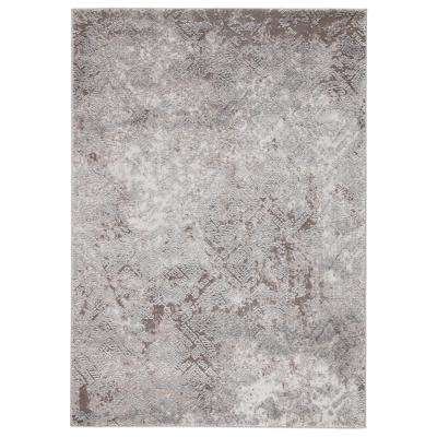 Tresca Gray 4 ft. 3 in. x 6 ft. 1 in. Geometric Rectangle Rug