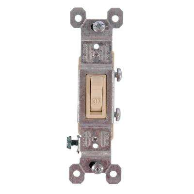 15-Amp 120-Volt AC Grounding Toggle Switch - Ivory