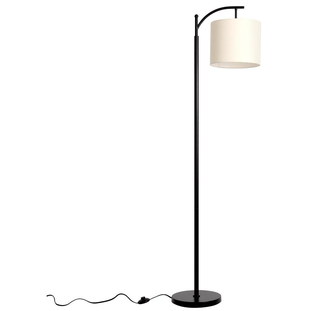 Tilden 65 in. Black and White Floor Lamp with Hanging Shade