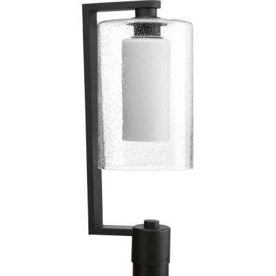 Compel Collection 1-Light Black Outdoor Post Lantern