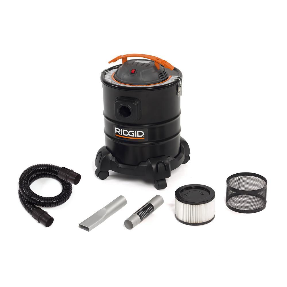 5 Gal. 3.0-Peak HP Cool/Dry Ash Canister Shop Vacuum, HEPA Media Filter, Hose and Accessories