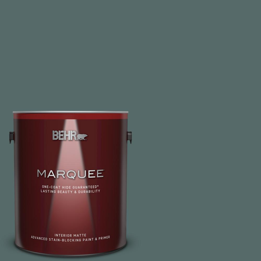 BEHR MARQUEE 1 gal. #N430-6 Meteorological One-Coat Hide Matte Interior Paint and Primer in One