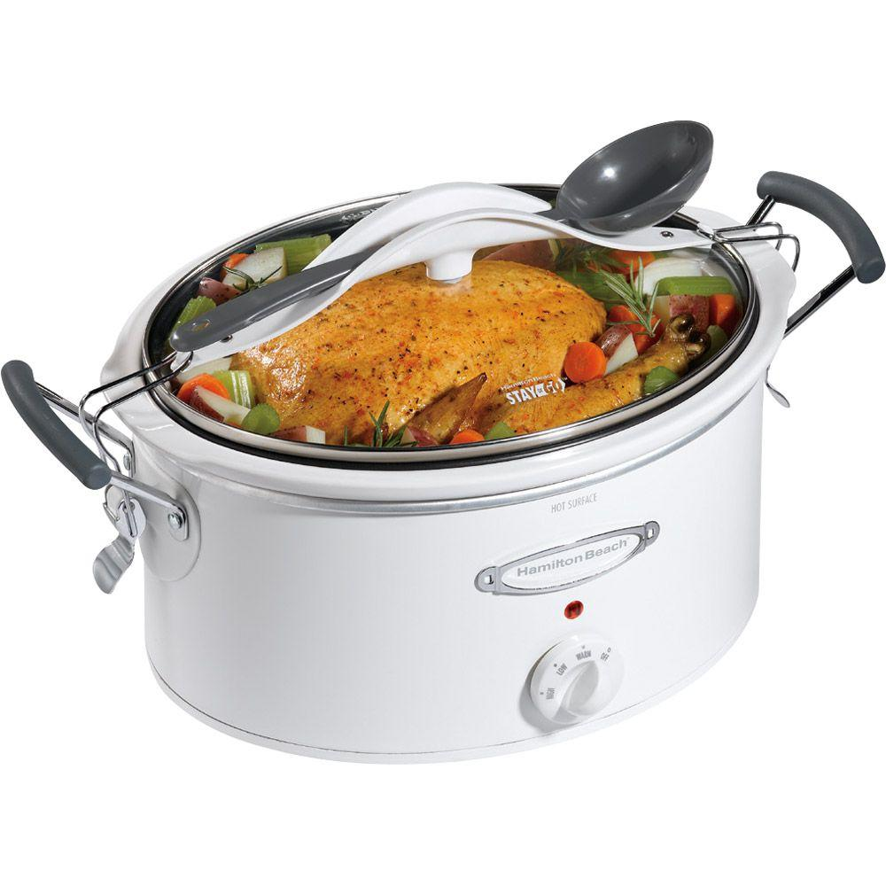 Hamilton Beach Stay or Go 6 qt. Slow Cooker with Clip-Tight Lid-DISCONTINUED