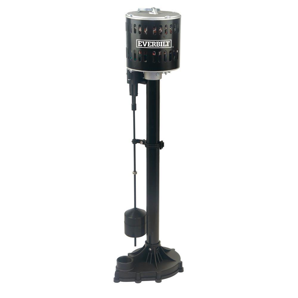 Everbilt 1/3HP Plastic Pedestal Sump Pump-SPL03303